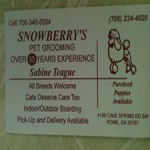snowberry's pet grooming